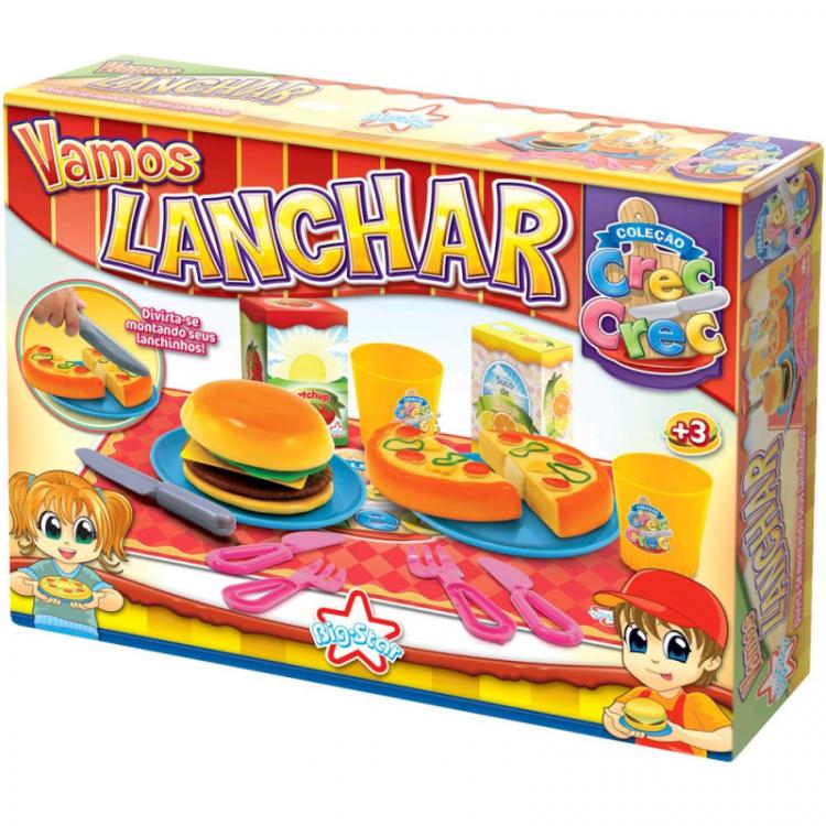 Brinquedo Crec Crec Vamos Lanchar - Big Star 343-CCVL